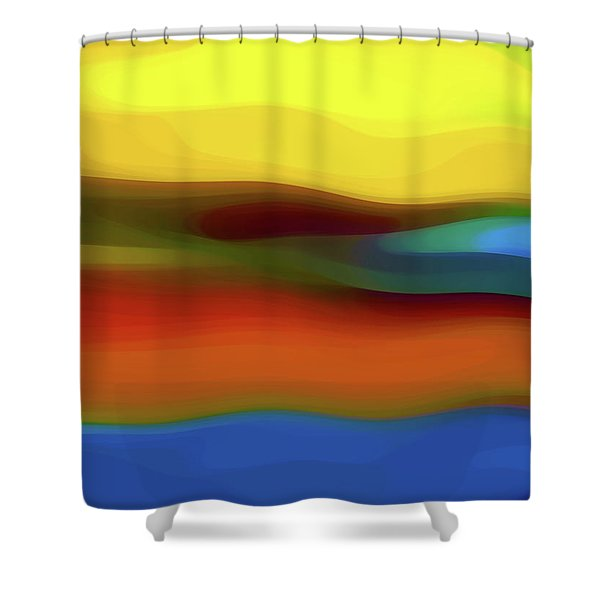 Desert River Landscape Shower Curtain