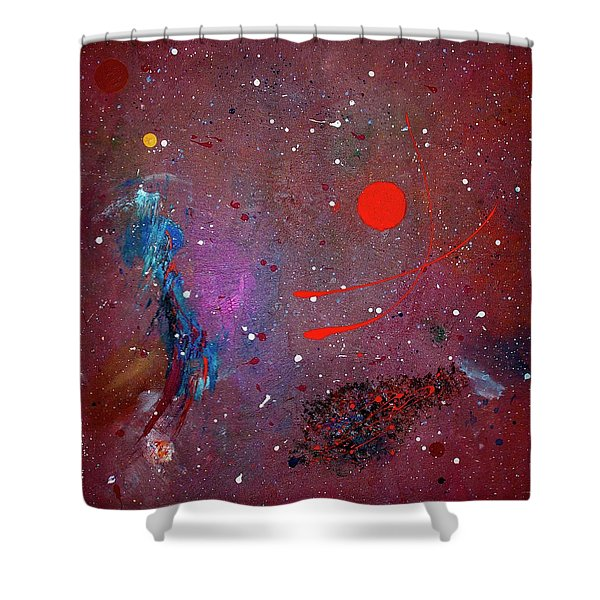Shower Curtain featuring the painting Desert Song by Michael Lucarelli
