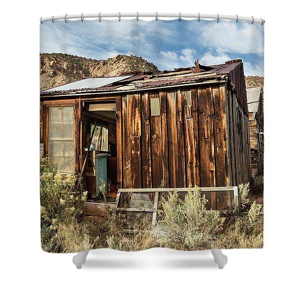 Desert Storage Shower Curtain