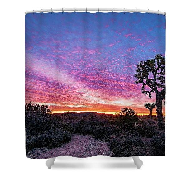 Desert Sunrise At Joshua Tree Shower Curtain