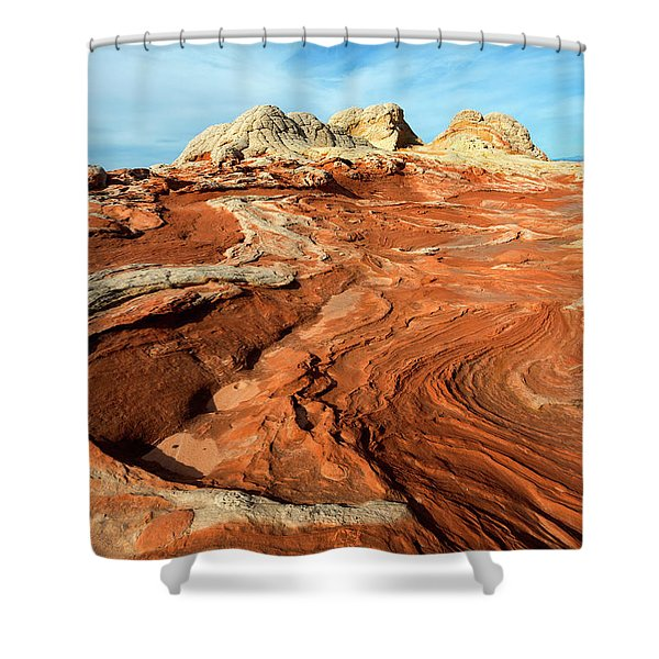 Desert Swirl Shower Curtain