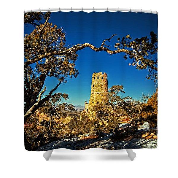 Desert View Watchtower, Grand Canyon National Park, Arizona Shower Curtain