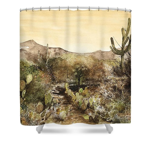 Desert Walk Shower Curtain