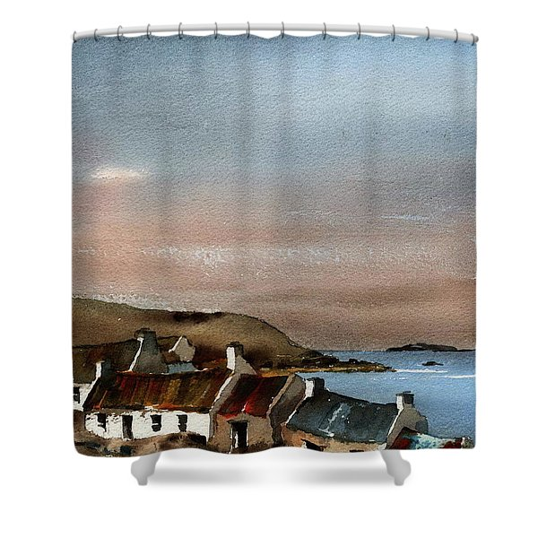 Deserted Village, Blasket Mor, Kerry Shower Curtain