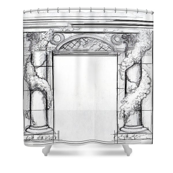 Design For Trompe L'oeil Shower Curtain