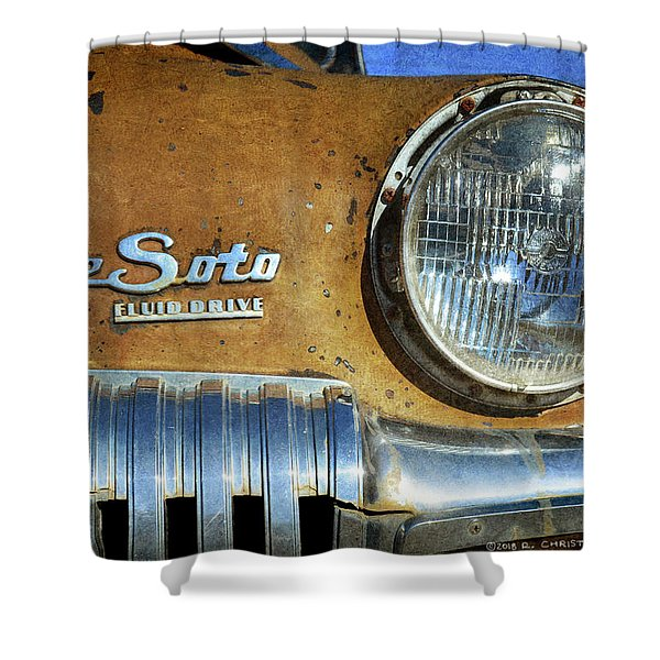 Desoto Lamp And Grill Shower Curtain