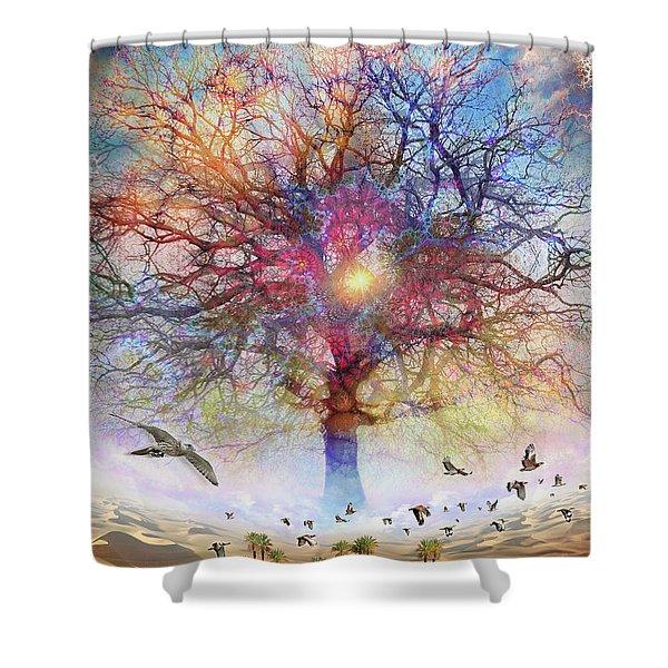 Dessert Of Forgotten Tree Shower Curtain