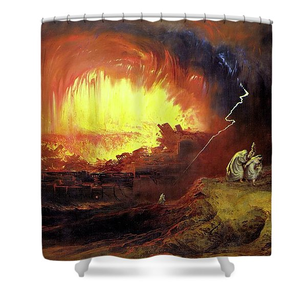 Destruction Of Sodom And Gomorah Shower Curtain