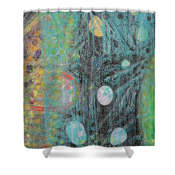 Detail From Creation Of Adam And Eve Shower Curtain