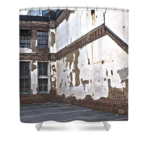 Deteriorated Shower Curtain
