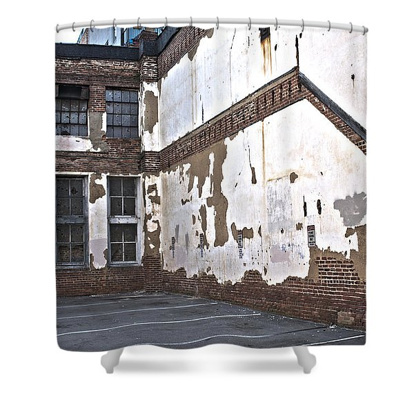 Shower Curtain featuring the photograph Deteriorated by Break The Silhouette