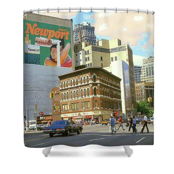 Detroit Michigan 84 - Watercolor Shower Curtain