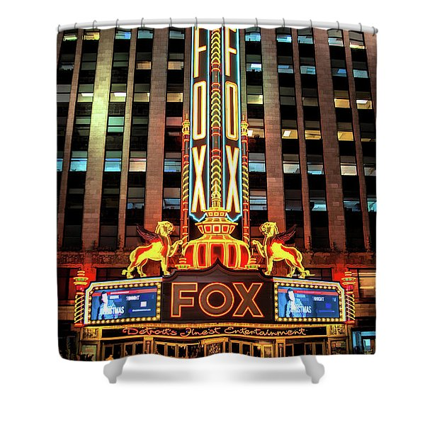 Detroit Fox Theatre Marquee Shower Curtain