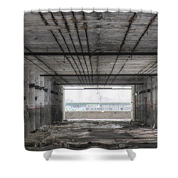 Detroit Packard Plant  Shower Curtain