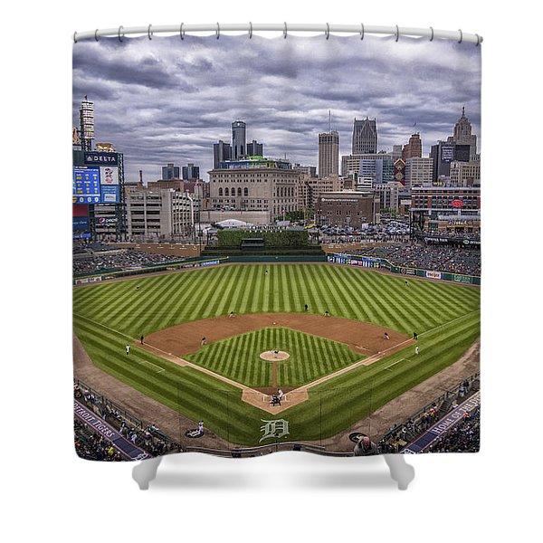 Detroit Tigers Comerica Park 4837 Shower Curtain