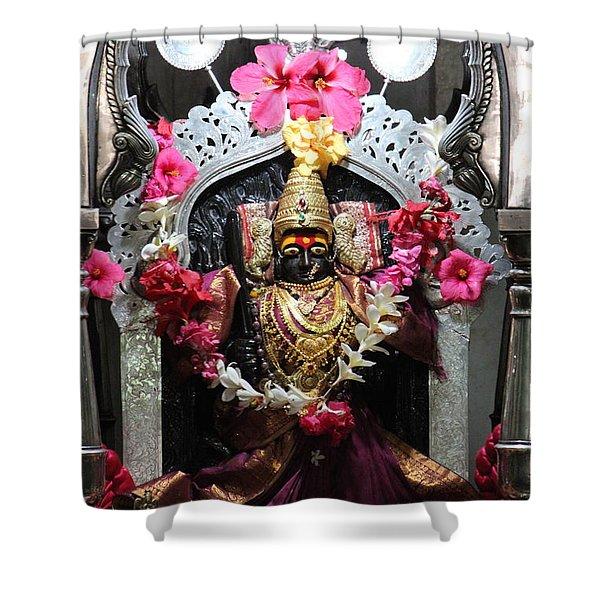 Devi Temple, Near Satara Shower Curtain