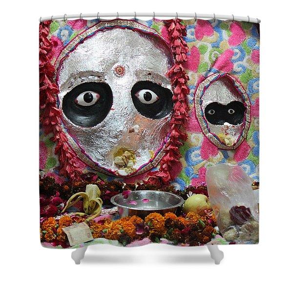 Devi Temple, Vrindavan Shower Curtain