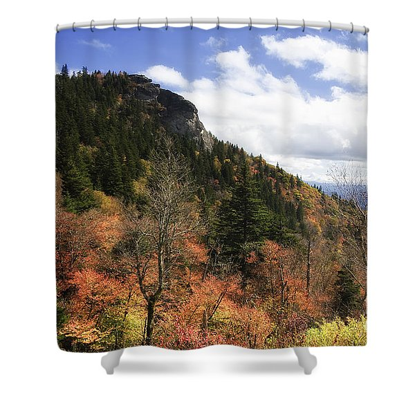 Devil's Courthouse In North Carolina Shower Curtain