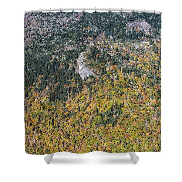 Devil's Courthouse On The Blue Ridge Parkway Shower Curtain