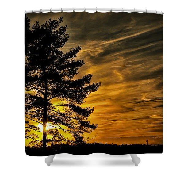 Devils Sunset Shower Curtain