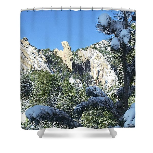 Devil's Thumb In Winter Shower Curtain