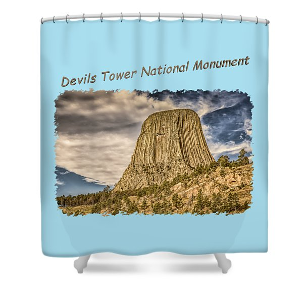 Devils Tower Inspiration 2 Shower Curtain