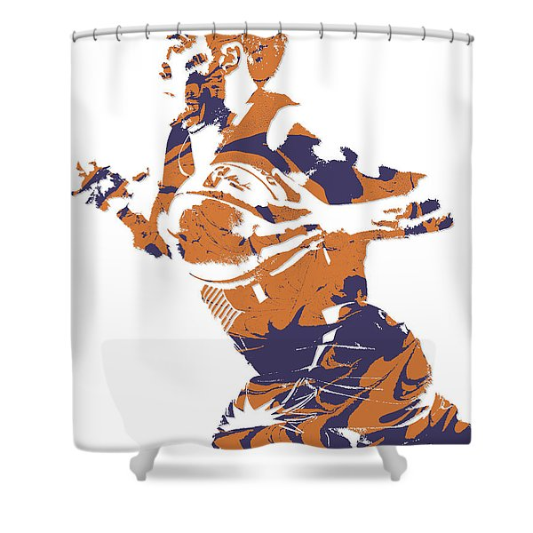Devin Booker Phoenix Suns Pixel Art 5 Shower Curtain