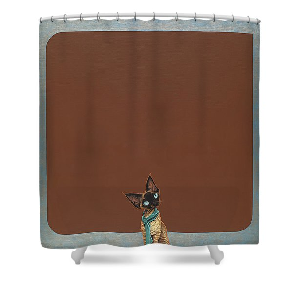 Devon Rex Shower Curtain