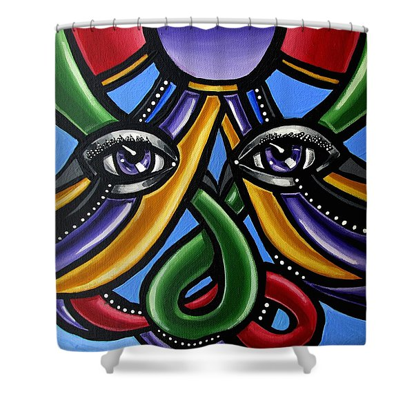 Colorful Eye Art Paintings Abstract Eye Painting Chromatic Artwork Shower Curtain