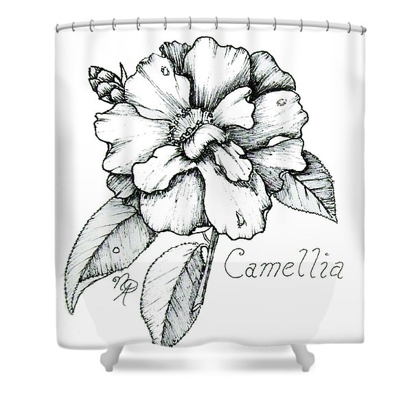 Dew Kissed Camellia Shower Curtain