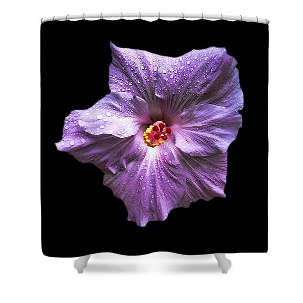 Dew Kissed Hibiscus Shower Curtain