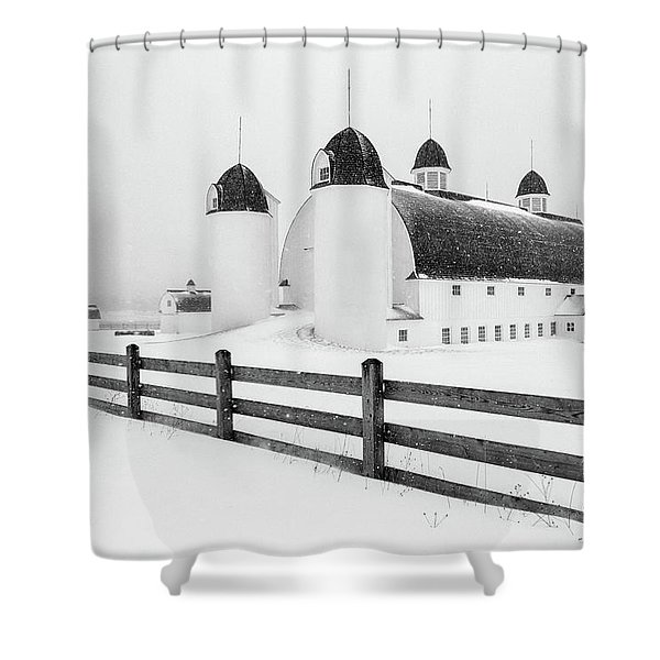 Shower Curtain featuring the photograph Dh Day Farm 4 by Heather Kenward