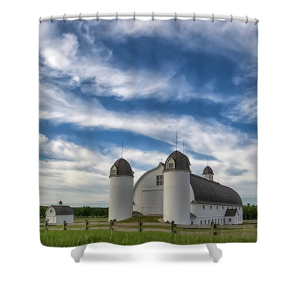 Shower Curtain featuring the photograph Dh Day Farm 6 by Heather Kenward