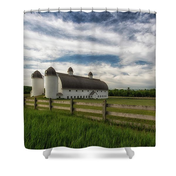 Shower Curtain featuring the photograph Dh Day Farm 9 by Heather Kenward