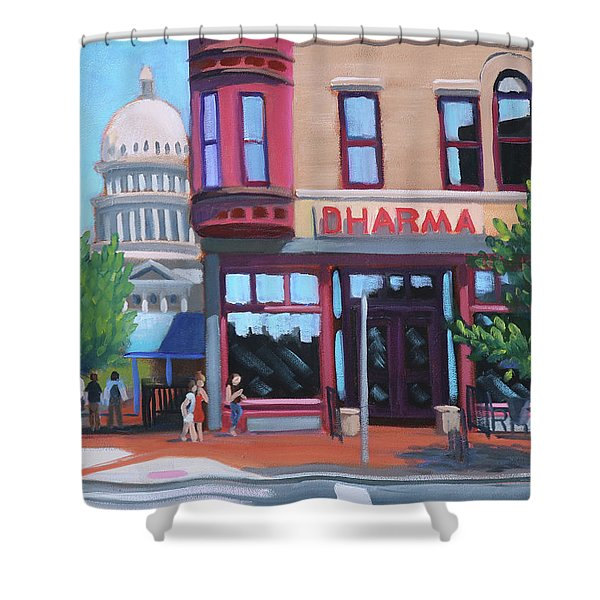 Dharma Building - Boise Shower Curtain