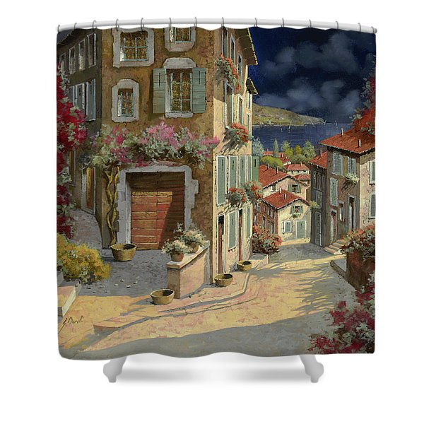 Di Notte Al Mare Shower Curtain