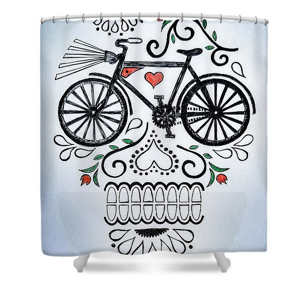 Muertocicleta Shower Curtain
