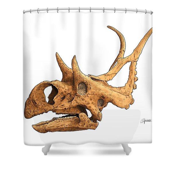 Diabloceratops Shower Curtain