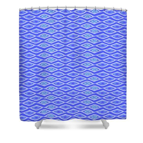 Diamond Eyes Cobalt Shower Curtain