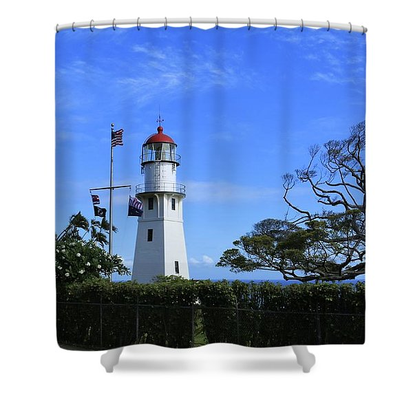 Diamond Head Light Shower Curtain