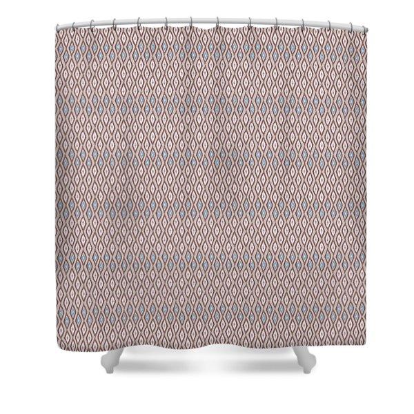 Diamond Rain Tan Shower Curtain
