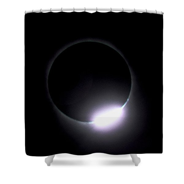 Diamond Ring During Solar Eclipse Shower Curtain