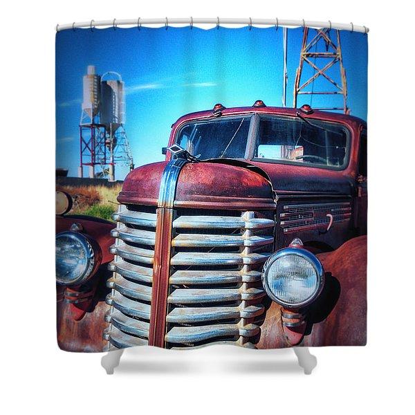 Diamond T Shower Curtain