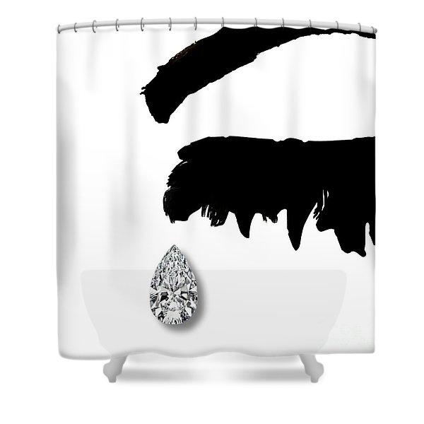 Diamond Teardrop Shower Curtain