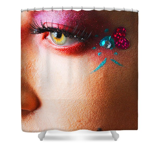 Diamond With Pink Shower Curtain