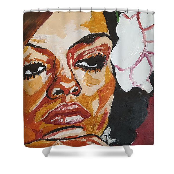 Diana Ross Shower Curtain