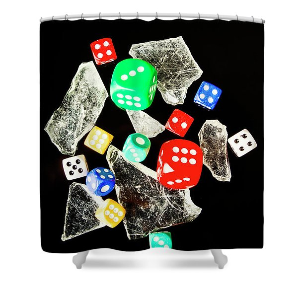Dicing With Chance Shower Curtain