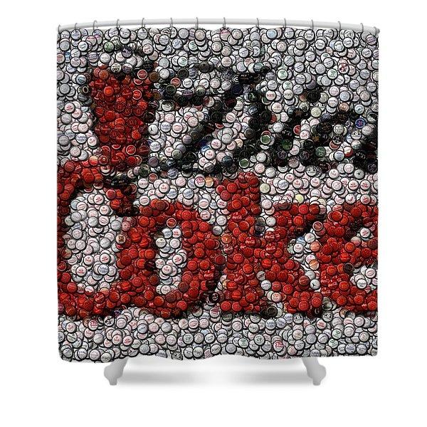 Diet Coke Bottle Cap Mosaic Shower Curtain