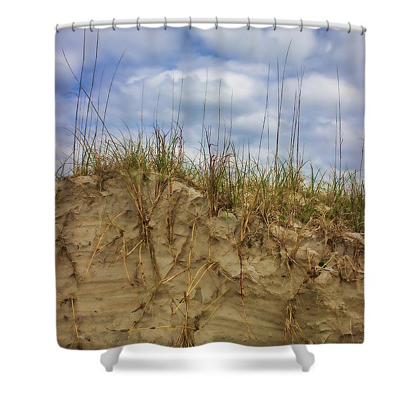 Digging In Deep In Sand Dunes Shower Curtain