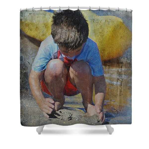 Digging To China 2 Shower Curtain